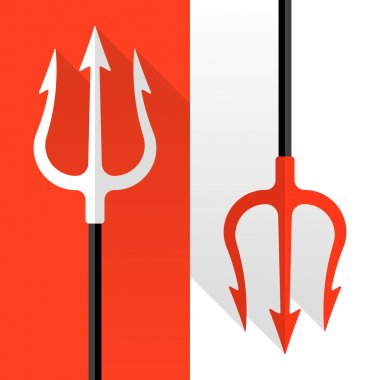 Trident, pitchfork icons