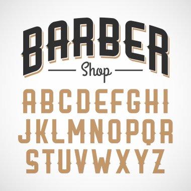 Barber shop style alphabet set