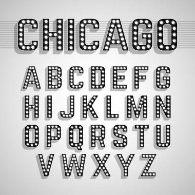 Broadway lights alphabet set