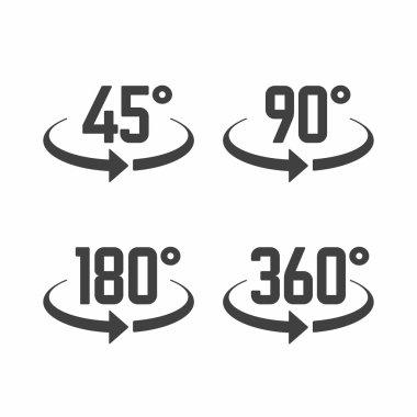 view angle sign icons set