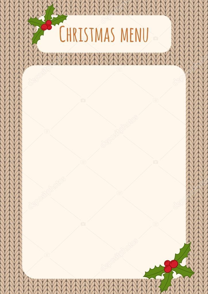 christmas menu template stock vector optimistic view 89682518