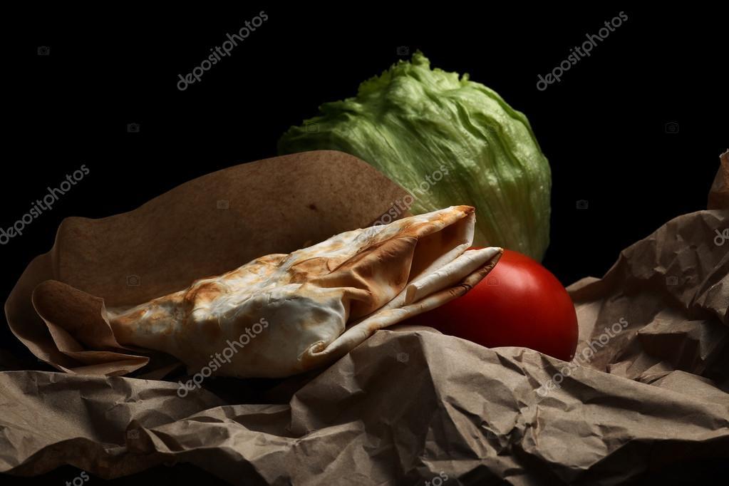 Traditionelle Armenische Lava Und Gemüse Stockfoto