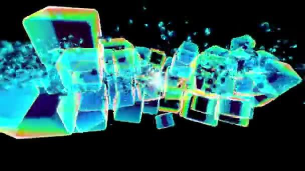 taneční hudební barevné kostky grafiky