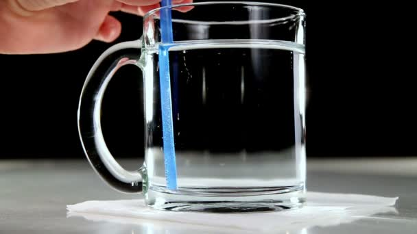 Mineral Water in a Glass Cup