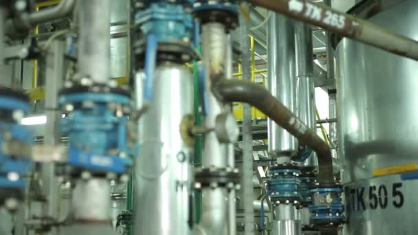 The System Pipe With Valves in Manufacturing