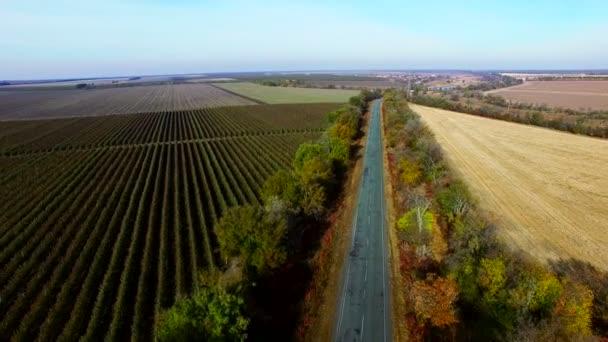 Podzimní cesta. Letecký průzkum