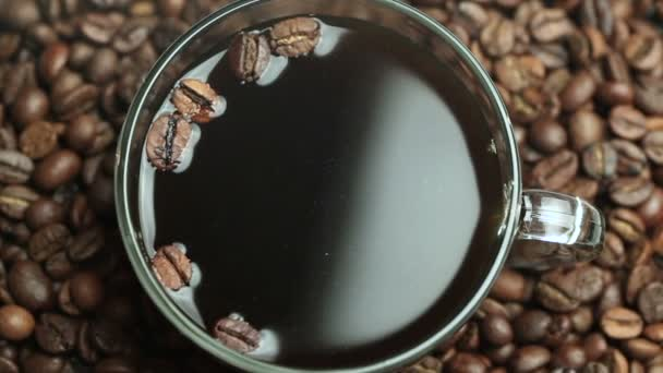 Cup of coffee Beans Roasted in