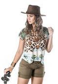 Dobrodružné žena na safari