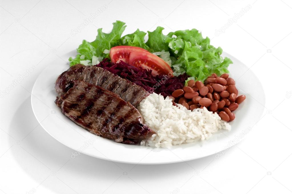 Pictures Rice And Beans Dish With Meat Rice And Beans Stock Photo C Diogoppr 69725607