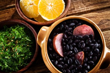 Typical brazilian dish feijoada