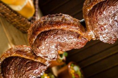 Traditional Brazilian barbecue Picanha stock vector