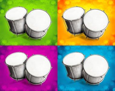 Bass drum on white