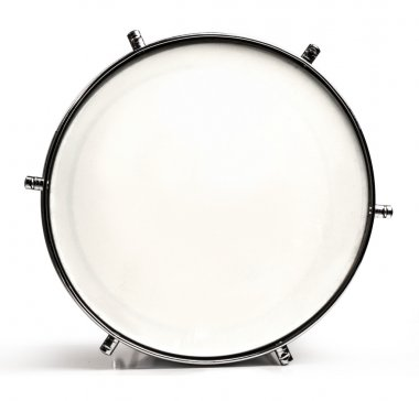 Bass drum on white