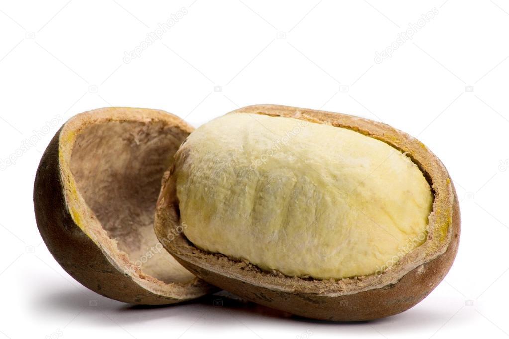 Cupuacu fruit on white