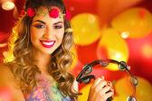 Fotografie Frau gekleidet für Karnevalsnacht