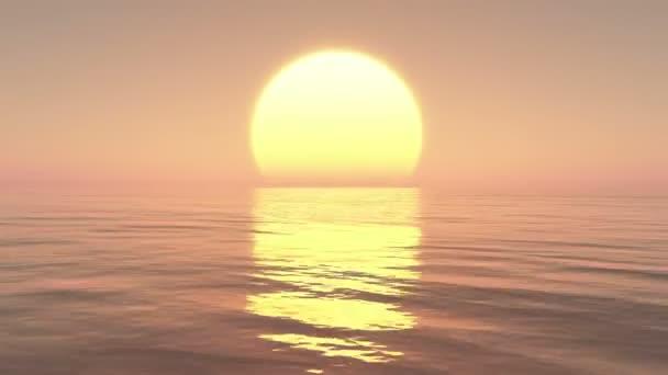 4 k nagy sunset Over-óceán naplemente idő telik el.