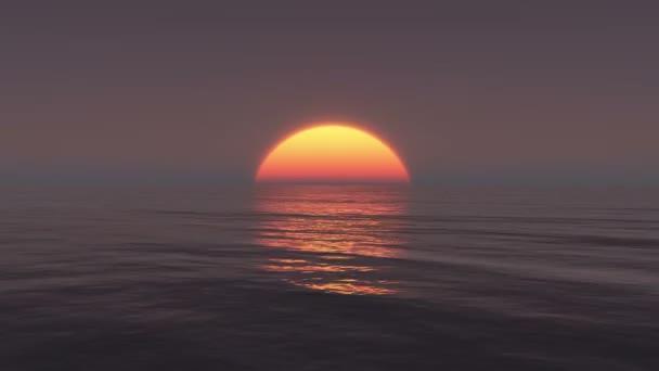 4 k velké východ slunce nad oceánem, Sunrise časová prodleva.