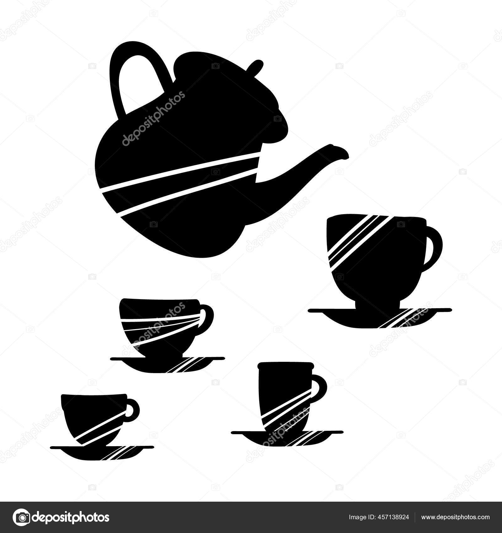 Vector Illustration Black Kitchen Tools White Background Black Funny Kitchen Vector Image By C Milamiro Vector Stock 457138924