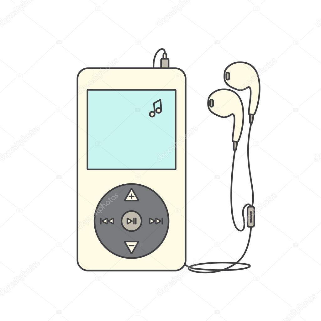 Music player with headphones. — Stock Photo © Anviczo #114545692