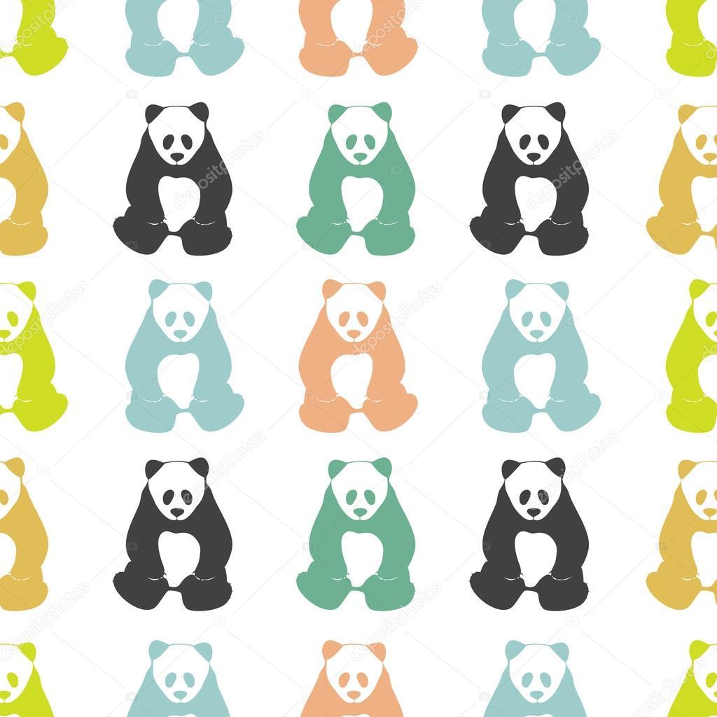 patrón sin costuras Panda — Archivo Imágenes Vectoriales © Anviczo ...