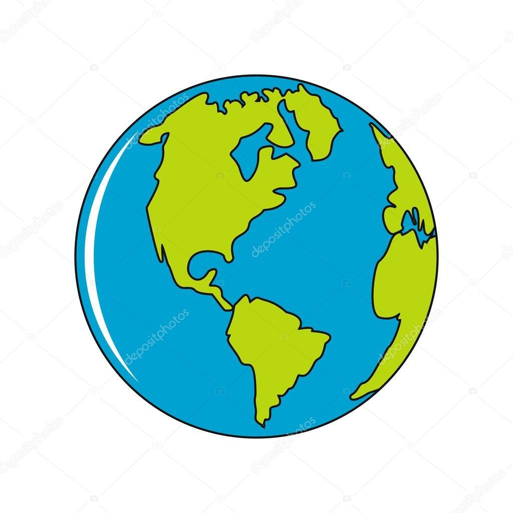 Dibujos Planeta Tierra Dibujo Vectores Planeta Tierra En Icono De