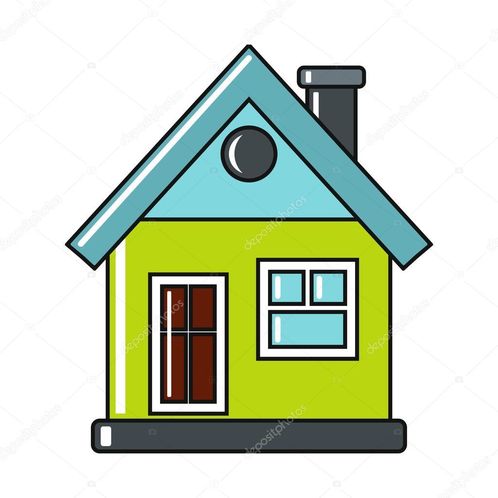 Ic ne de maison dessin anim sur fond blanc image vectorielle keltmd 101057118 - Image maison dessin ...
