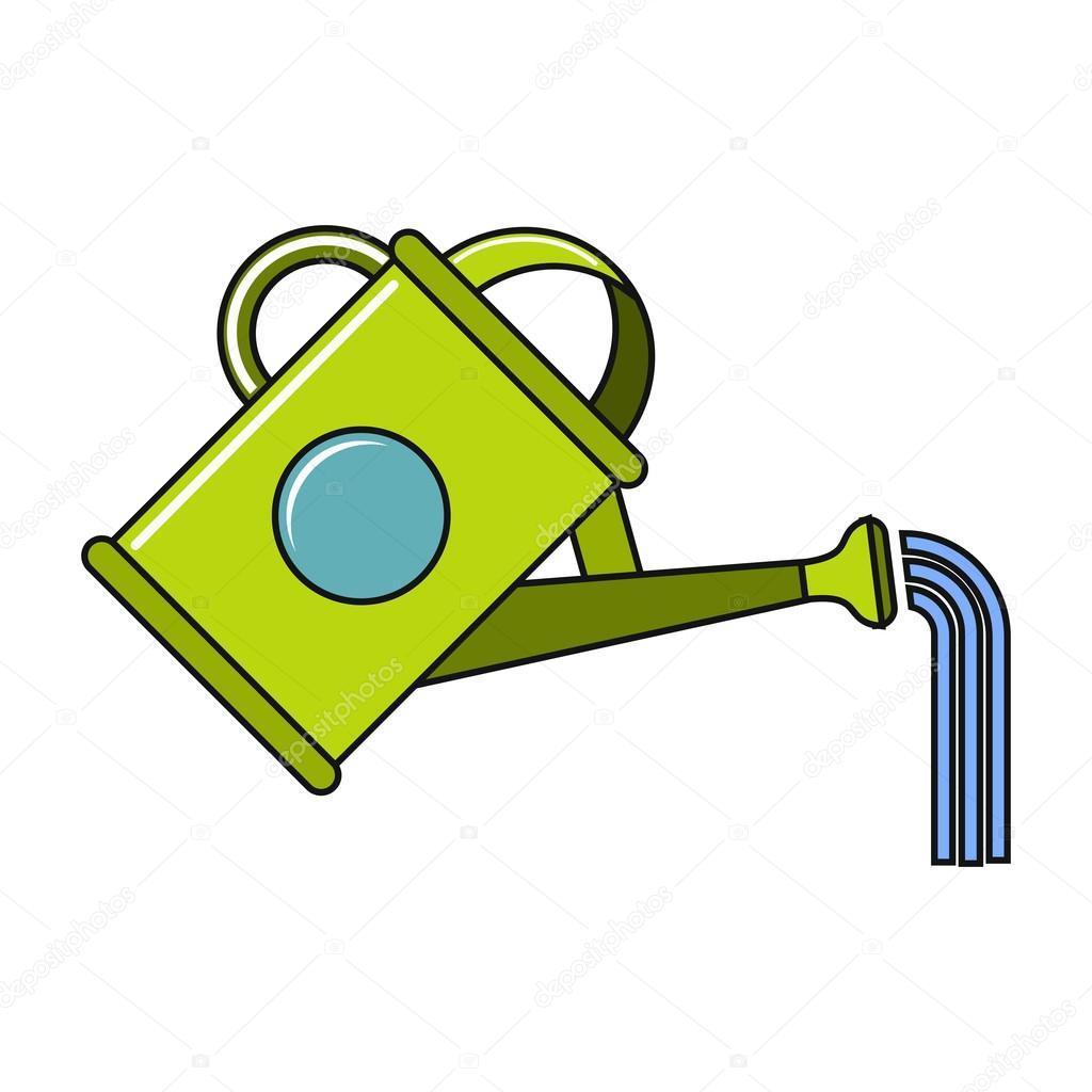 Icono De Regadera De Dibujos Animados Sobre Fondo Blanco