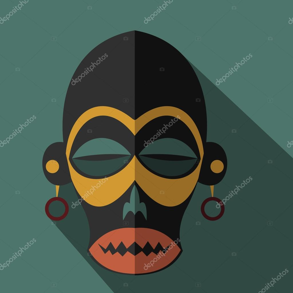Set of african ethnic tribal masks on colour background stock set of african ethnic tribal masks on colour background flat icons ritual symbols vector by keltmd biocorpaavc Image collections
