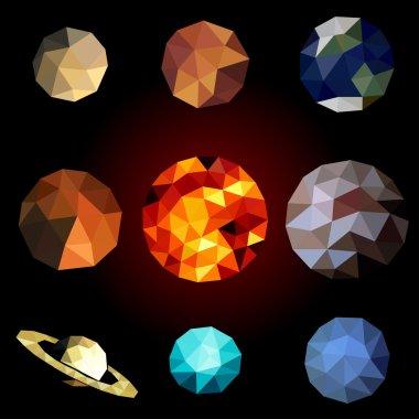Set polygonal planets