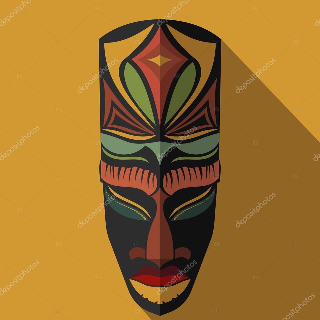 masque africain en couleur