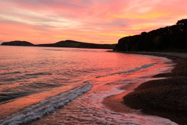 sunset at russian isle Putyatin