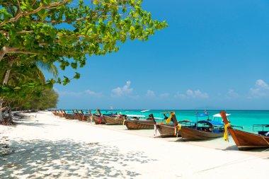 White sand beach of Bamboo island