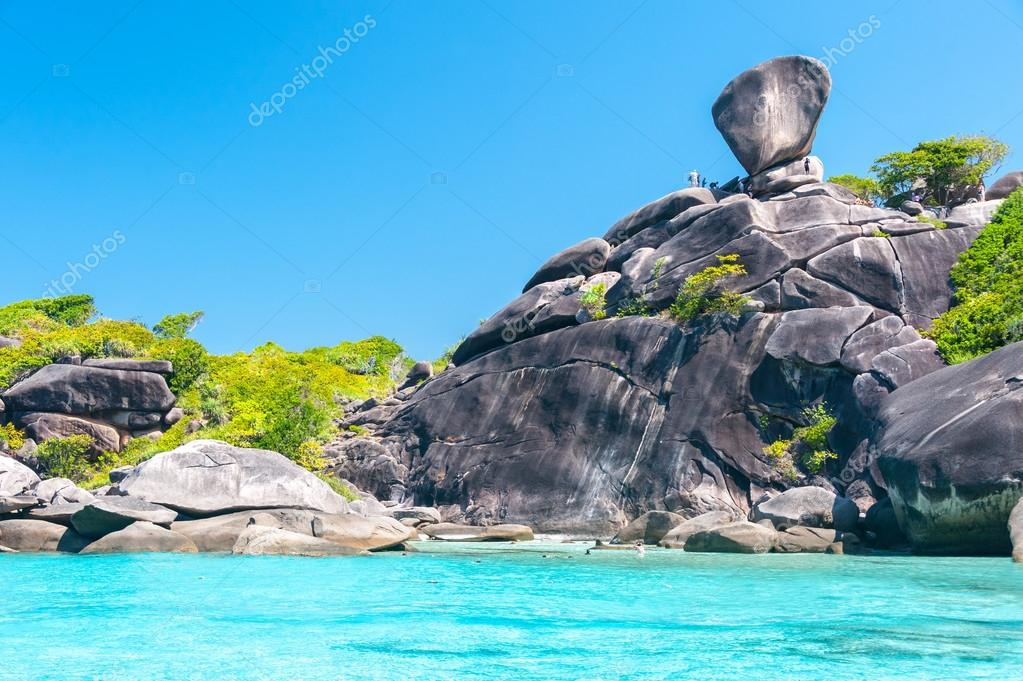 Koh Similan No.8 Island with Sailing Boat Rock