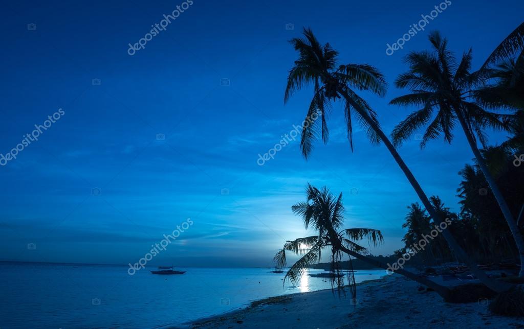 Tropical Dumaluan Beach at Panglao Bohol island