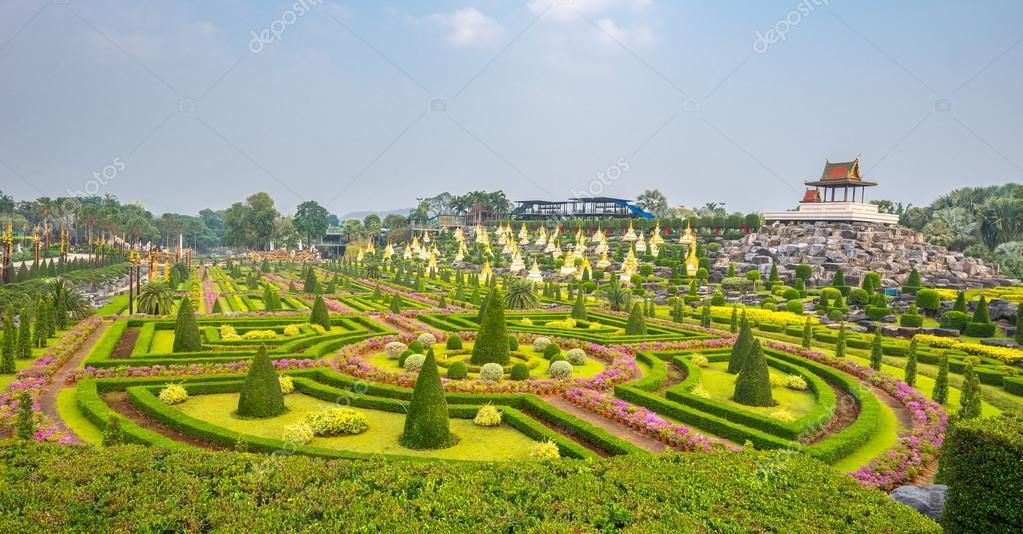 French garden of Nong Nooch Tropical Botanical Garden