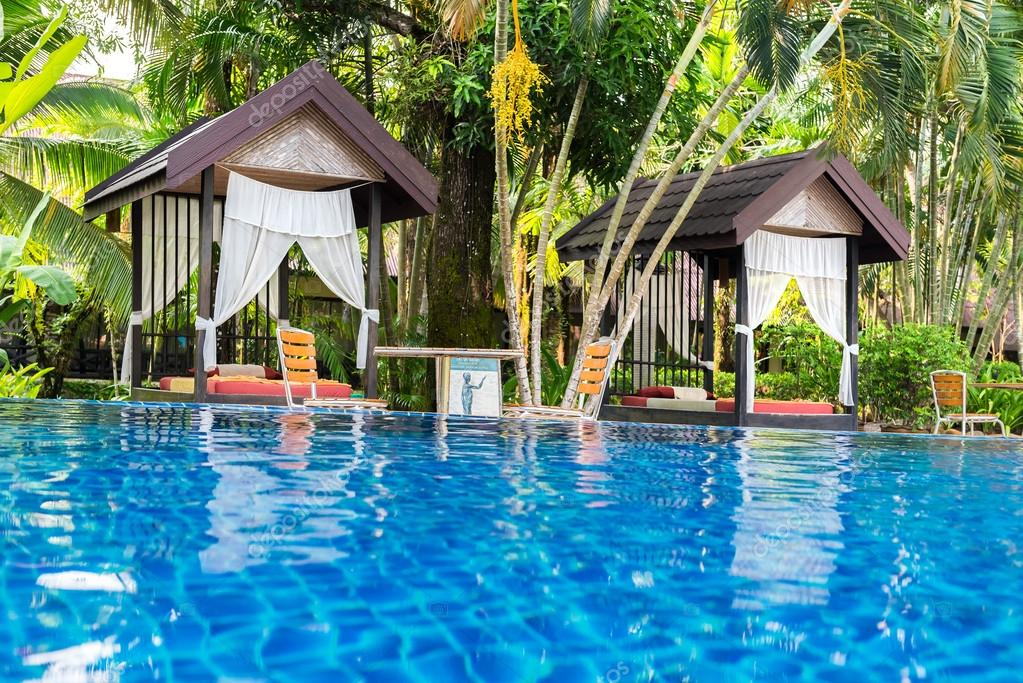 Place for Thai massage at beautiful swimming pool, Thailand.