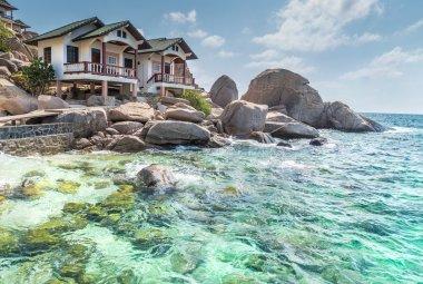 Typical resort view at Koh Tao island Thailand