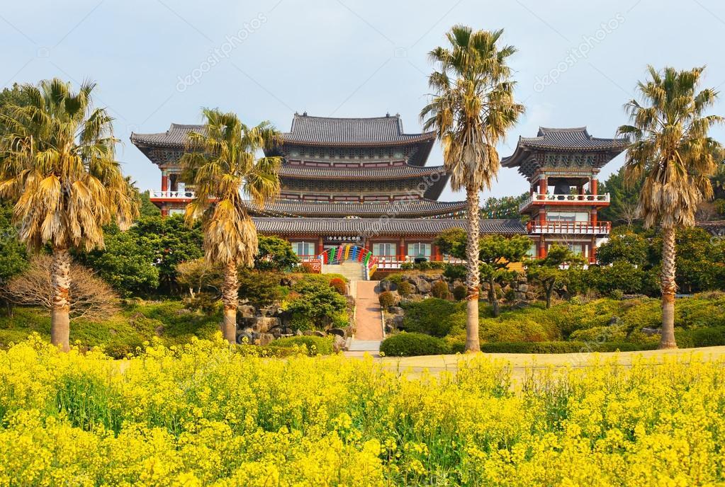 Yakcheonsa Buddhist Temple, Jeju Island,
