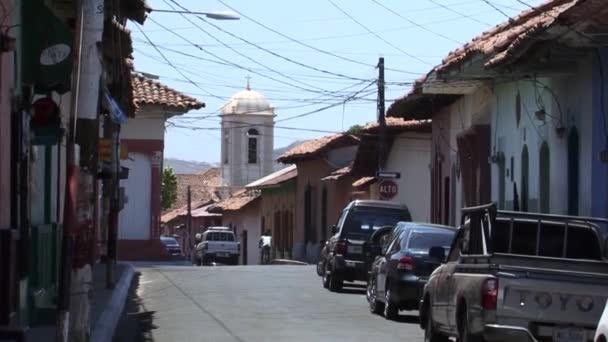 Straßen der Stadt León in Nicaragua rund um das Memorial House und das Museum von Ruben Dario.