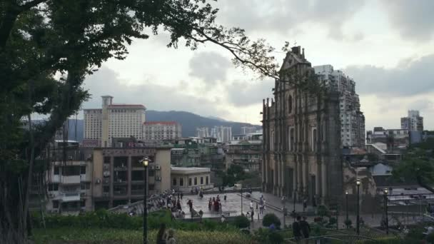 Macau - Ruins of St Paul's Church as seen from the steps of Monte Forte