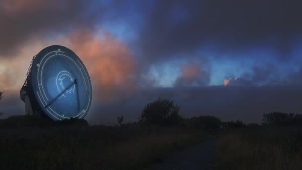 Prostorové pole propojující a sdílející data se satelity - 3D vykreslování animace