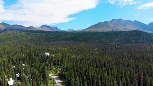 4K Drone Video of Beautiful Carlo Creek near Denali National Park and Preserve, AK during Summer
