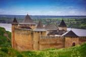 Castello di Hotin su lungo il fiume Dnestr