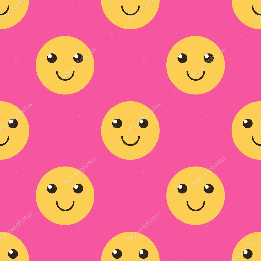 Cute smiley face happy face seamless pattern background stock cute smiley face happy face seamless pattern background stock vector voltagebd Image collections