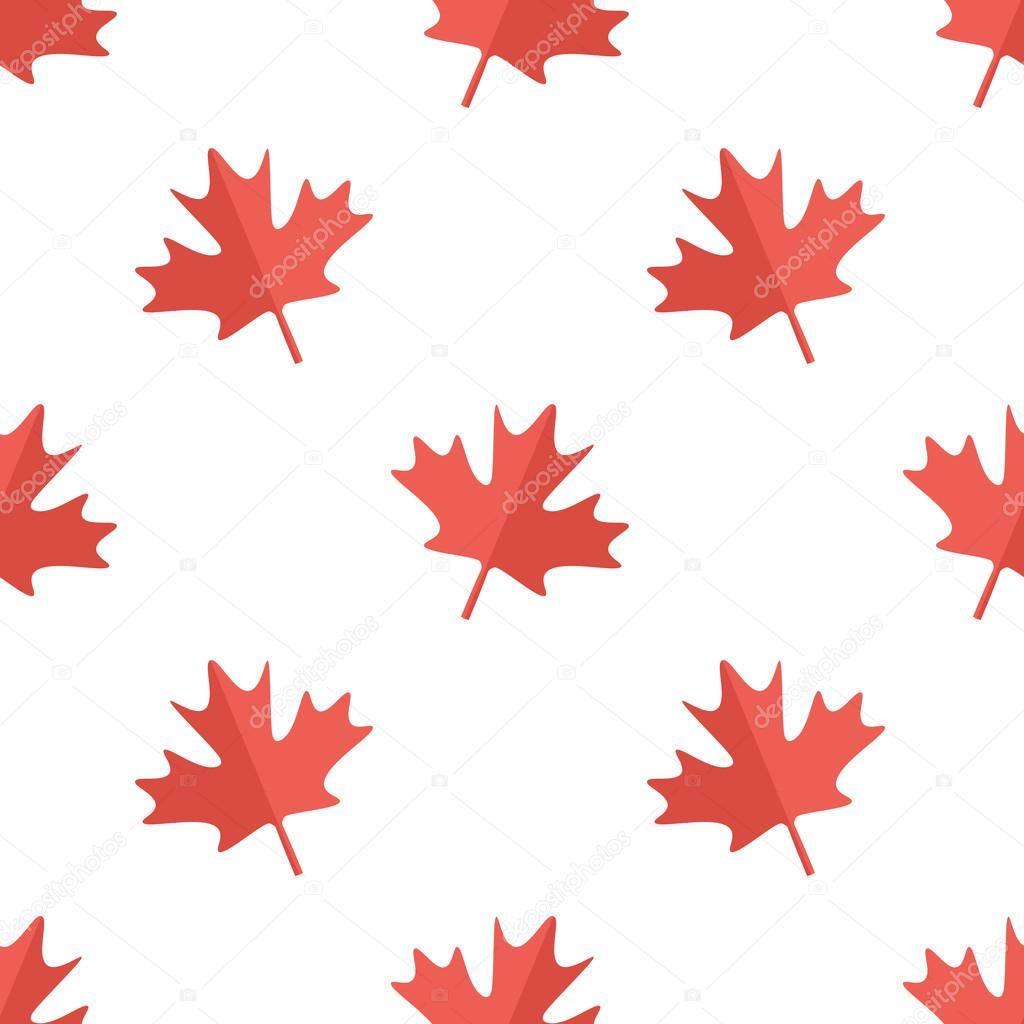 Maple leaf flat design white and red symbol of canada seamless maple leaf flat design white and red symbol of canada seamless pattern background stock biocorpaavc Choice Image