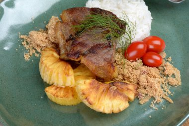 Brazilian jerked beef with cassava