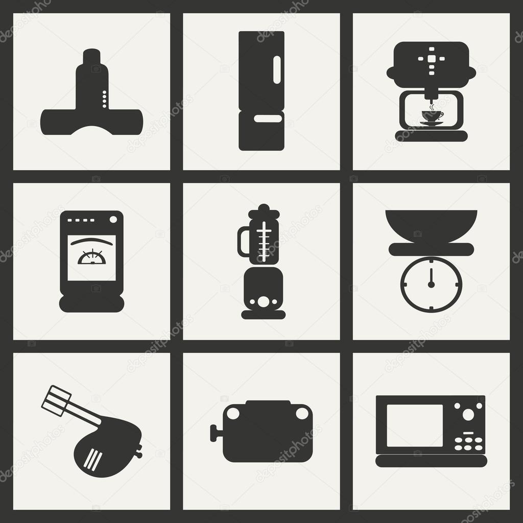 Wohnung in schwarz-weiß Konzept Mobilanwendung Küchengeräte ...