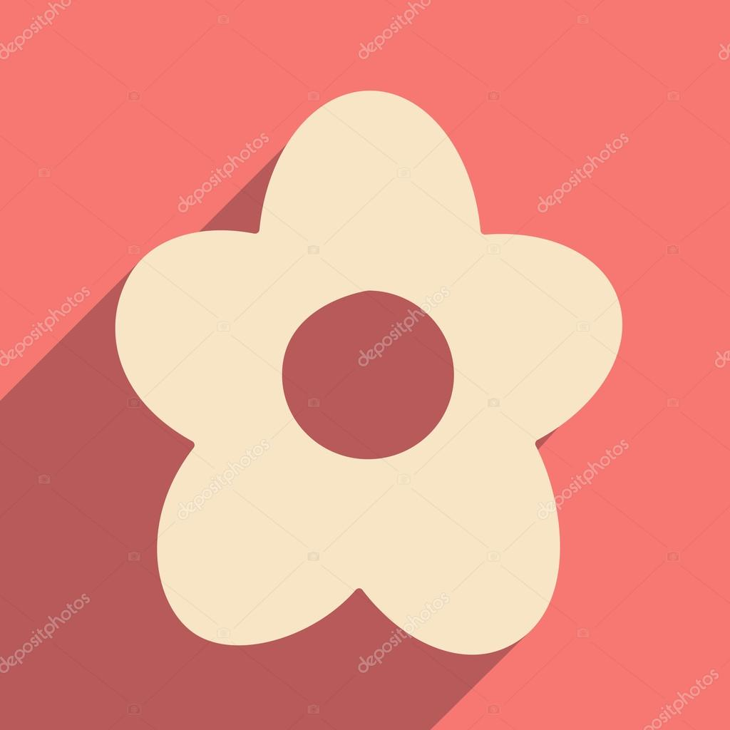 Flat with shadow icon and mobile applacation flowers