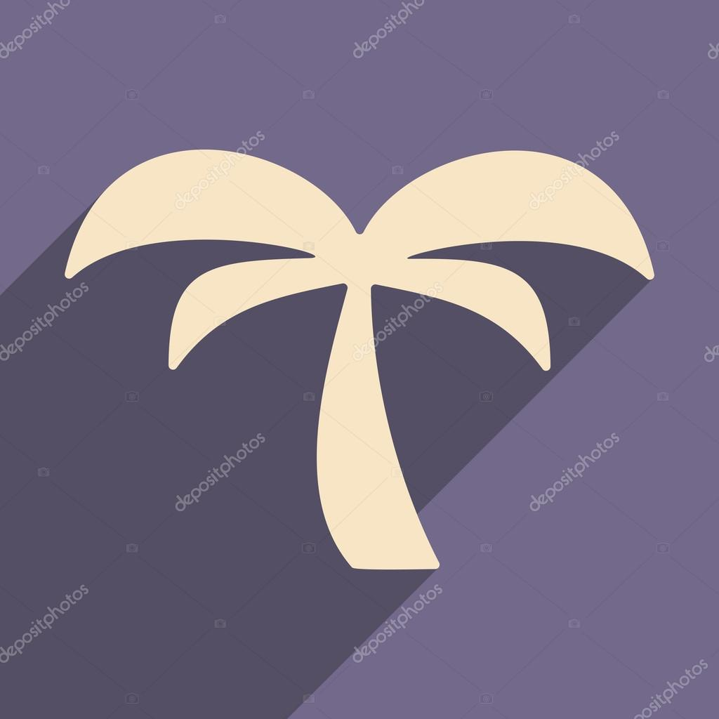 Flat with shadow icon and mobile applacation palm
