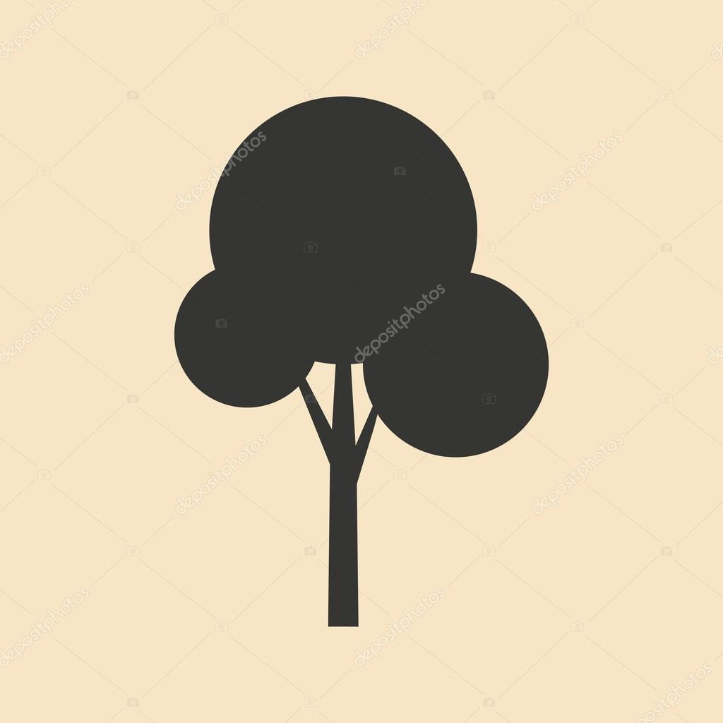 Flat in black and white mobile application tree